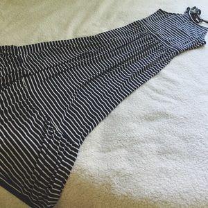 Old Navy Halter-Neck Striped Maxi Dress